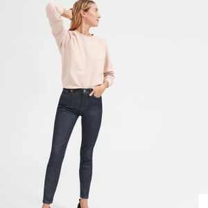 Everlane High Rise Skinny Jean in Dark Indigo